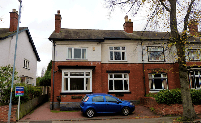 Example of semi-detached houses surveyed in Wolverhampton
